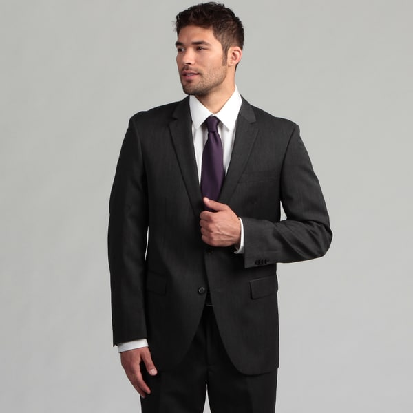 Kenneth Cole New York Men's Charcoal Wool Suit