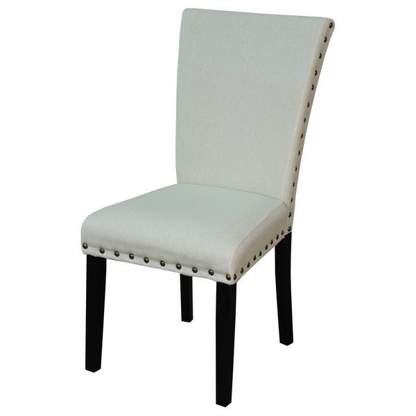 Adorno Upholstered Linen Dining Chairs (Set of 2)