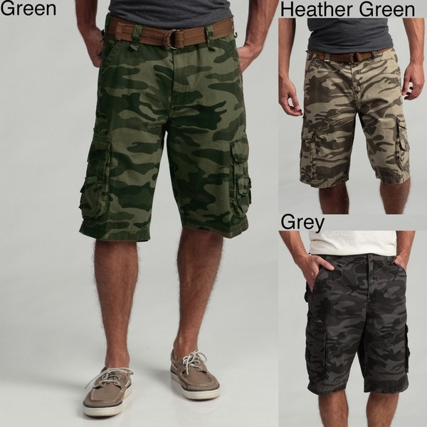 Burnside Men's Camo Ripstop Cargo Shorts - Free Shipping On Orders ...