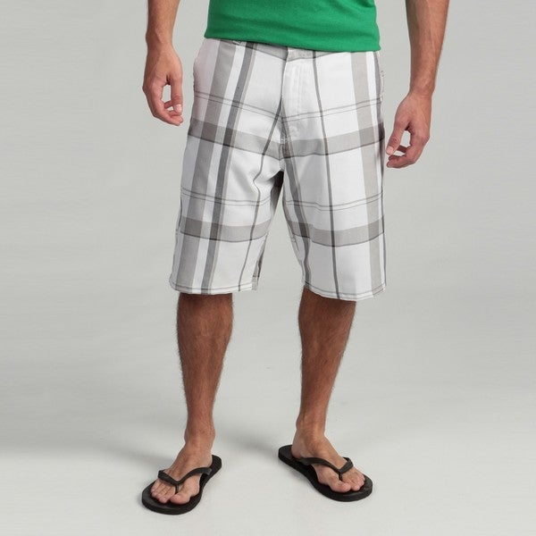 Burnside Men's Windowpane Plaid Shorts - Free Shipping On Orders ...