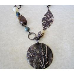 Dragonfly Reed Brass Necklace - Thumbnail 1