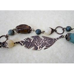 Dragonfly Reed Brass Necklace - Thumbnail 2