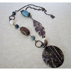 Dragonfly Reed Brass Necklace