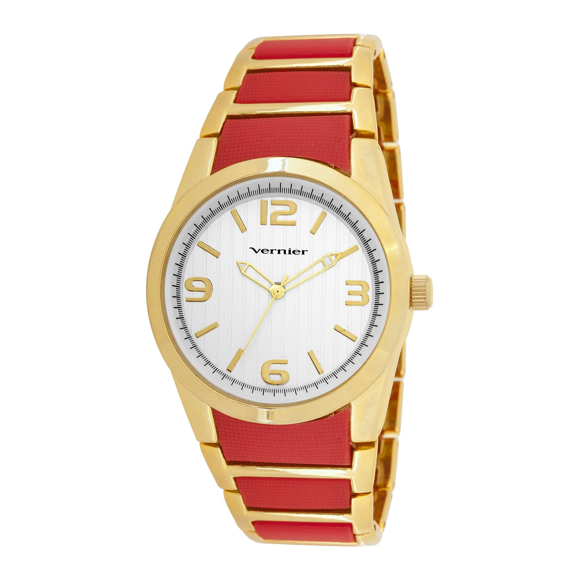 Vernier Woman's V11100YG Metal and Plastic Fashion Watch