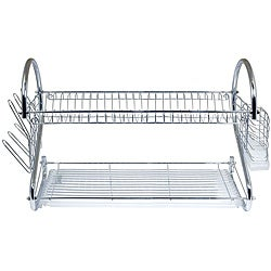 Better Chef 22 Inch Chrome Dish Rack With Utensil Holder, Cup Rack And Tray