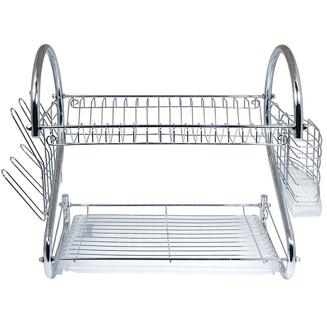 Shop Better Chef 16 Inch Chrome Dish Rack With Utensil