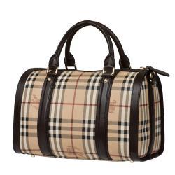 Burberry Medium Haymarket Check Bowler Bag - Thumbnail 1
