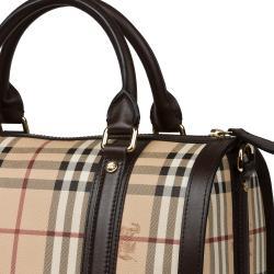 Burberry Medium Haymarket Check Bowler Bag - Thumbnail 2