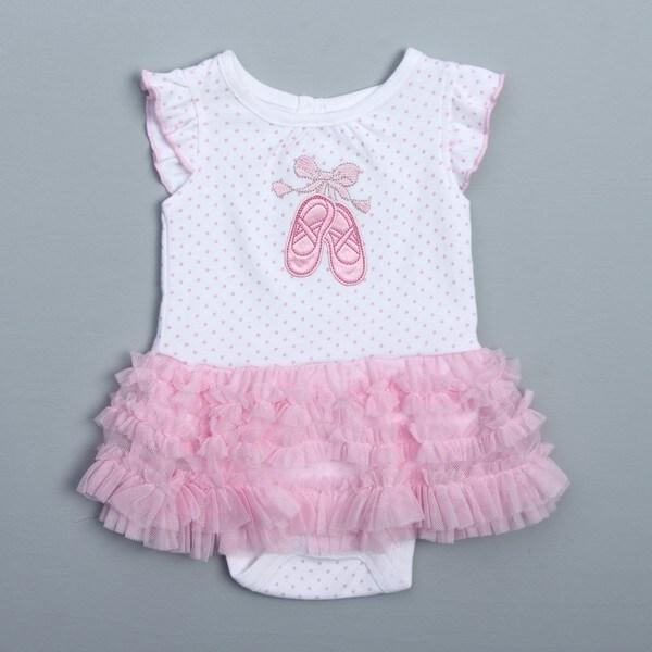 Vitamins Baby Newborn Girl's Pink Ballet Bodysuit
