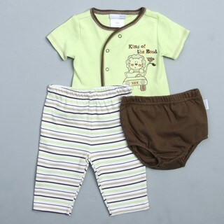 Vitamins Baby Newborn Boy's Lion 3-piece Diaper Pant Set