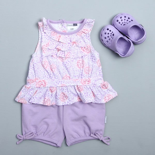 Vitamins Baby Infant Girl's Rose and Leopard 3-piece Set