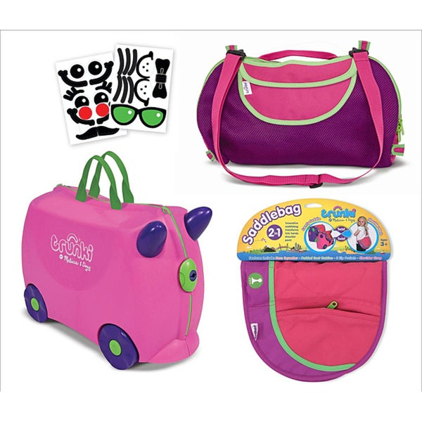 Melissa & Doug Pink Terrance Trunki Luggage Bundle