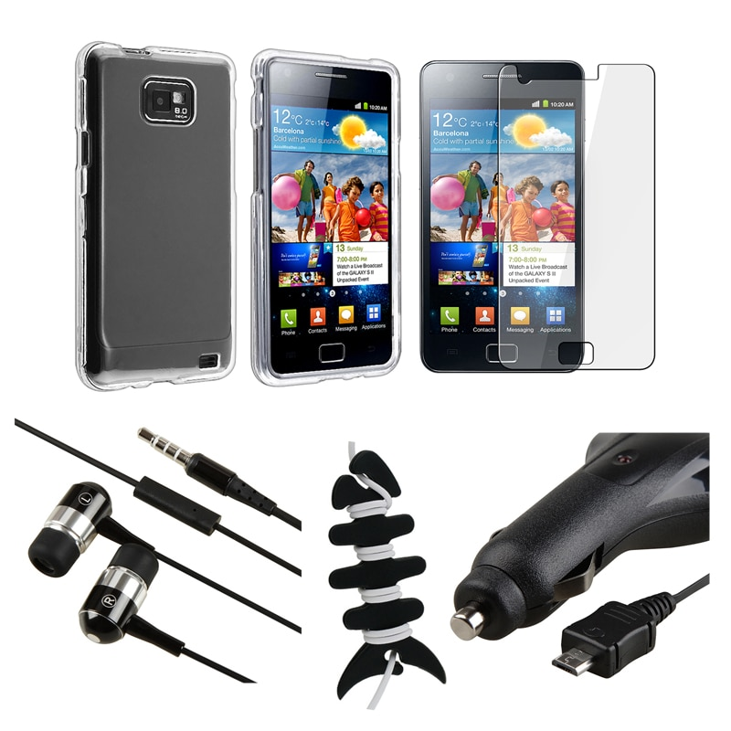 Case/ LCD Protector/ Headset/ Wrap/ Charger for Samsung Galaxy S 2