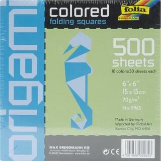 Folia Origami Paper 500/PkgAssorted