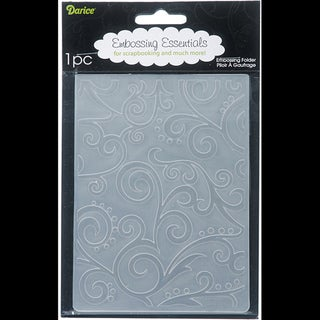 Darice Scroll Background Embossing Folder