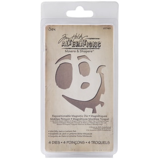 Sizzix Movers & Shapers Magnetic Dies By Tim Holtz-Mini Silly Jack-O-Lantern