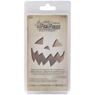 Sizzix Movers & Shapers Magnetic Dies By Tim Holtz-Mini Scary Jack-O-Lantern