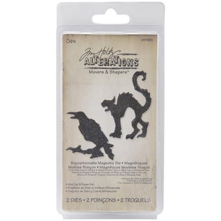 Sizzix Movers & Shapers 'Mini Cat & Raven Magnetic Die Set