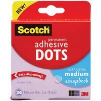 Scotch 3M Permanent Adhesive Dots Medium (Pack of 200)