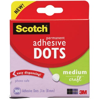 Link to Scotch 3M Medium Craft Adhesive Dots (Pack of 300) Similar Items in Scrapbooking Adhesives
