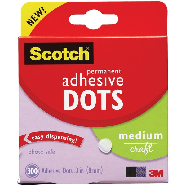 Scotch 3M Medium Craft Adhesive Dots (Pack of 300)