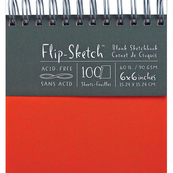 Flip-Sketch 'Madarin' 6-inch Blank Sketchbook