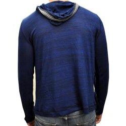 Something Strong Men's Blue Pullover Hoodie - Thumbnail 1