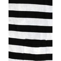 Something Strong Men's Black/ Grey Stripe Cardigan