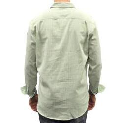 Something Strong Men's Green Stripe Collared Shirt