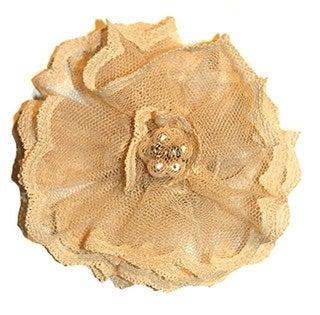 Women's Ivory Lace Flower Magnetic Brooch