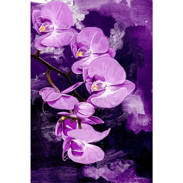 Maxwell Dickson u0027Purple Orchidu0027 Canvas Wall Art