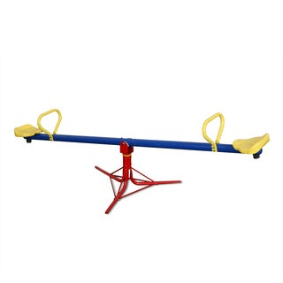 Swing-N-Slide See-saw Metal Spinner in Red, Yellow, and Blue