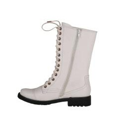 White Combat Boots For Girls - Boot Hto