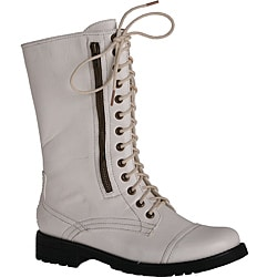 Neway by Beston Women&39s &39Legend-08&39 White Combat Boots - Free
