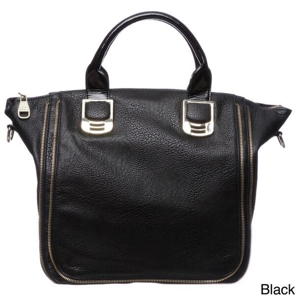 Steve Madden Bgambit Zipper Trim Satchel Bag
