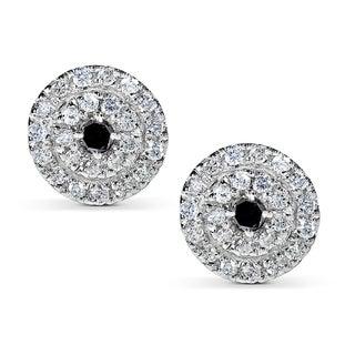 Annello by Kobelli 14k White Gold 1/2ct TDW Black and White Diamond Earrings (H-I, I1-I2)