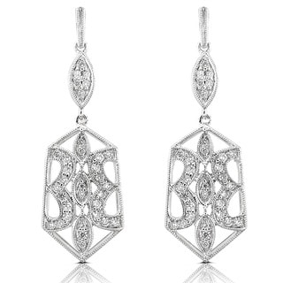 Annello by Kobelli 14k Gold 1/2ct TDW Geometric Diamond Earrings