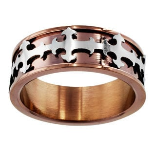 Coppertone Stainless Steel Center Cross Ring