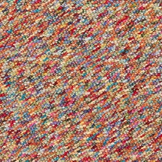 Hand-woven Multi Colored Burgundy Angelfish Wool Plush Shag Rug (8' x 10')