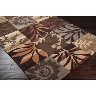 """Hand-tufted Brown Basslets Area Rug - 2'6"""" x 8' Runner"""