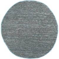 Hand-woven Blue Seahor Natural Fiber Jute Area Rug - 8' Round