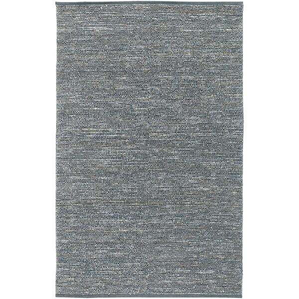 Hand-woven Blue Seahor Natural Fiber Jute Area Rug - 9' x 13'