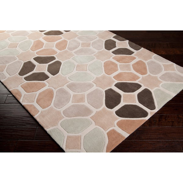 Hand-tufted Contemporary Geometric Hamlet Abstract Rug (3'6 x 5'6)