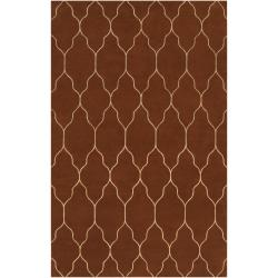 Hand-knotted Brown Adella Wool Area Rug (8' x 11') - Thumbnail 0