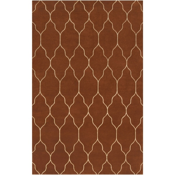 Hand-knotted Brown Adella Wool Area Rug - 8' X 11'