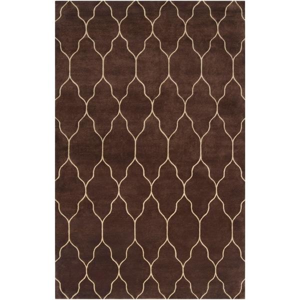 Hand-knotted Brown Mallard Wool Area Rug - 8' x 11'