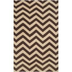 Hand-woven Brown Wool Barringer Area Rug (8' x 11') - Thumbnail 0