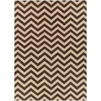 Hand-woven Brown Wool Barringer Area Rug - 8' x 11'