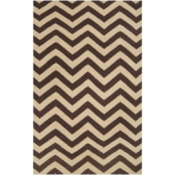 Hand-woven Brown Wool Barringer Area Rug (5' x 8') - 5' x 8'