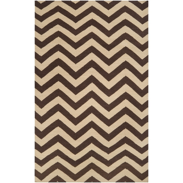 Hand-woven Brown Wool Barringer Area Rug - 5' x 8'